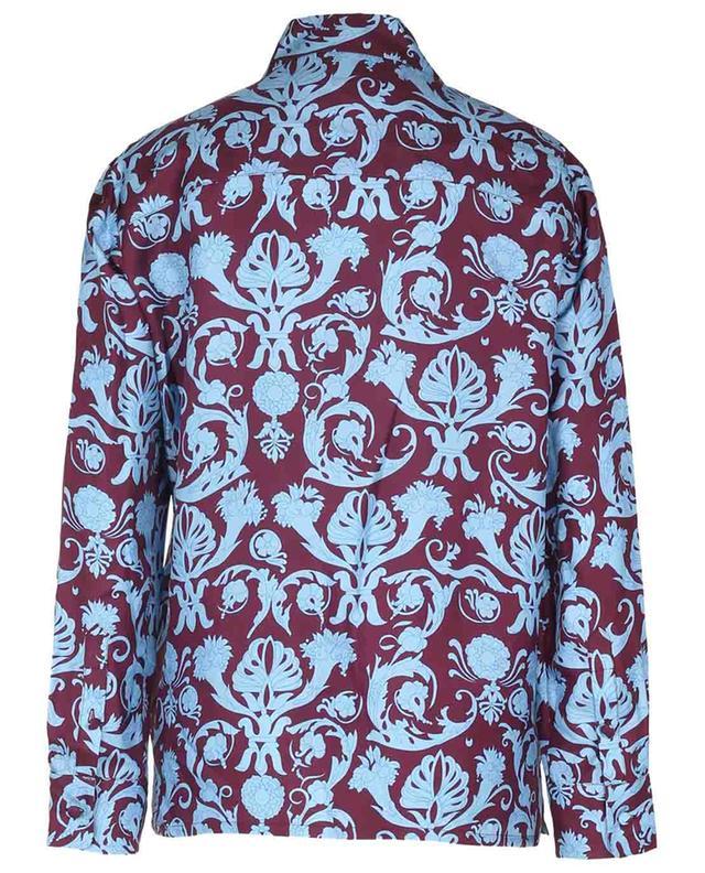 Chemise en sergé de soie Boy Shirt Brocade LA DOUBLEJ