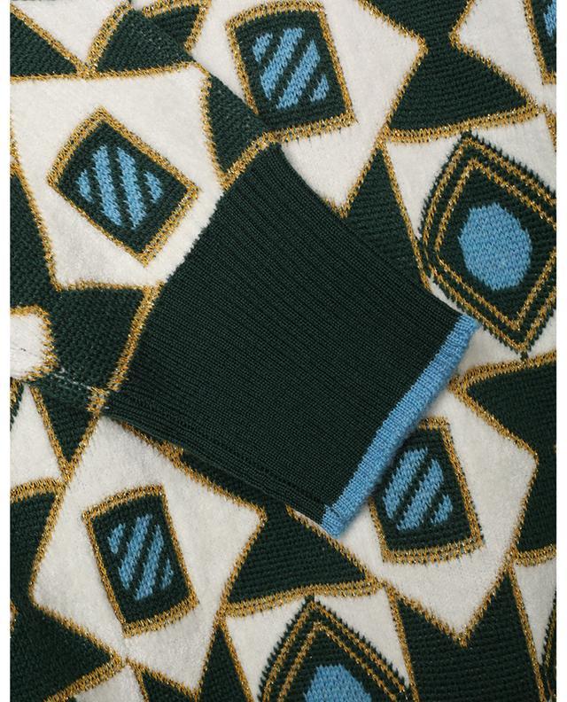 Pull jacquard à motifs géométriques Crew Boy LA DOUBLEJ