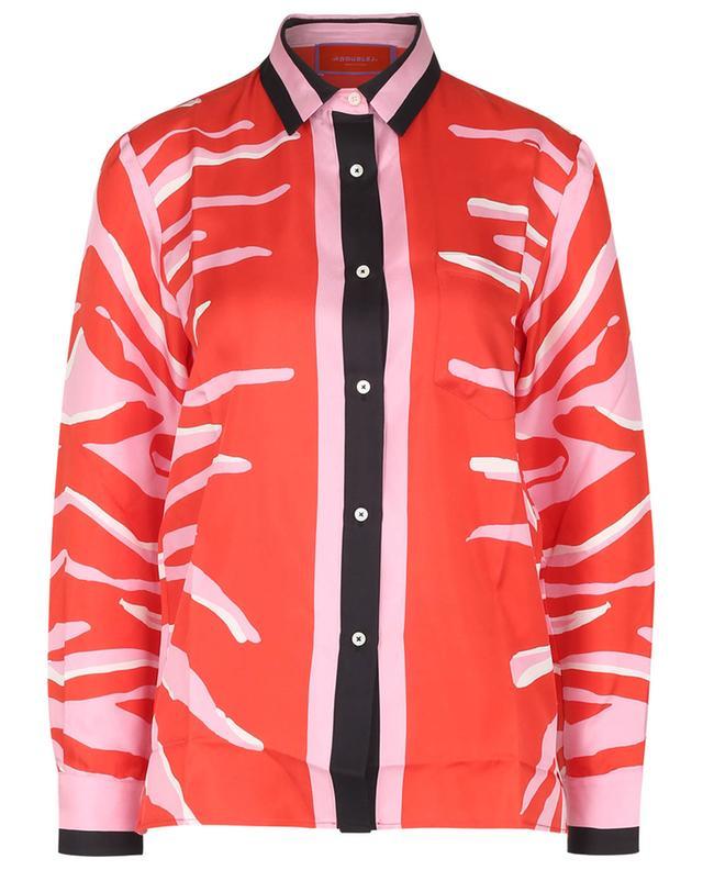 Chemise en sergé de soie imprimée Boy Shirt Zebra Placée LA DOUBLEJ