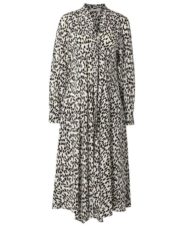 Robe asymétrique en soie imprimée léopard Wild Moment DOROTHEE SCHUMACHER