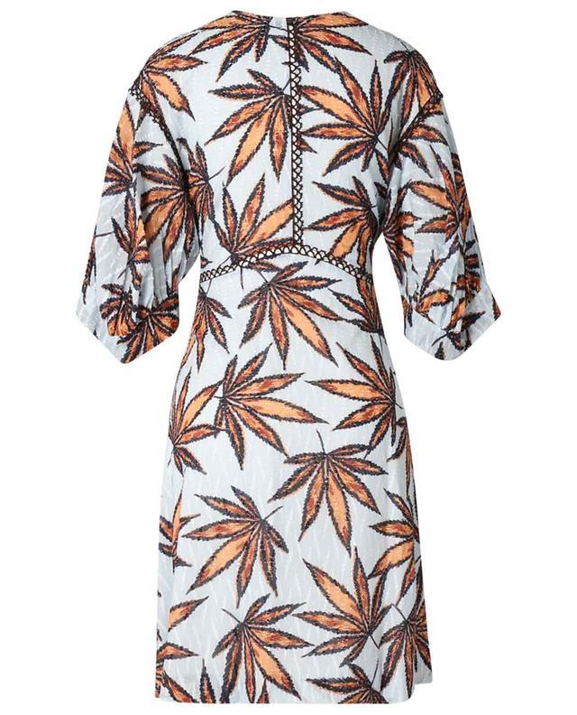 Robe courte en voile de coton fil coupé Fantasy Leaves DOROTHEE SCHUMACHER