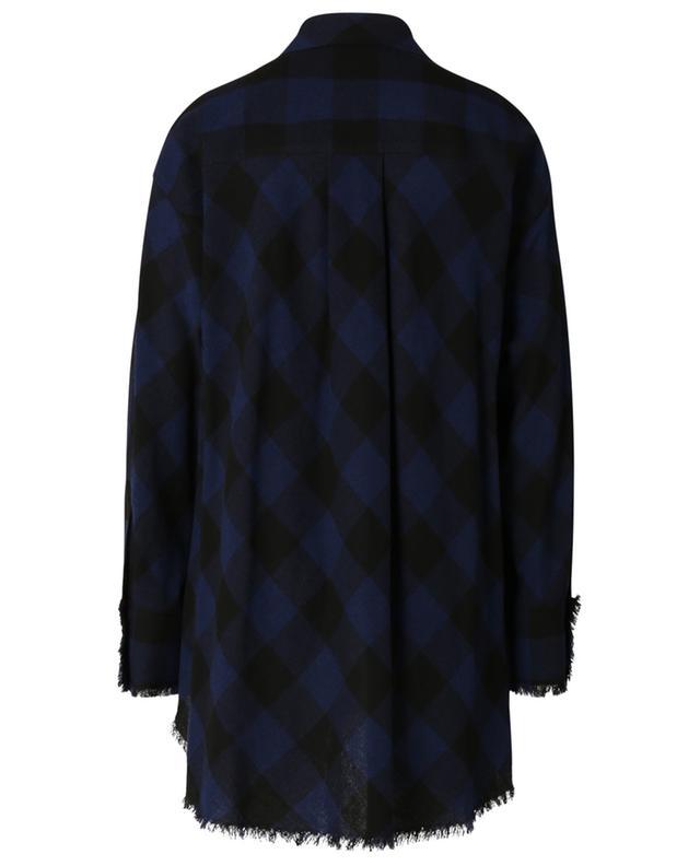Chemise oversize en laine mélangée à franges Playful Check DOROTHEE SCHUMACHER