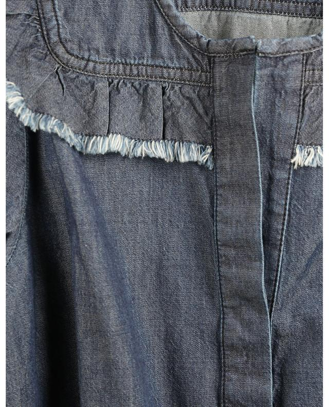 Chemise en jean à plastron volanté Denim Romance DOROTHEE SCHUMACHER