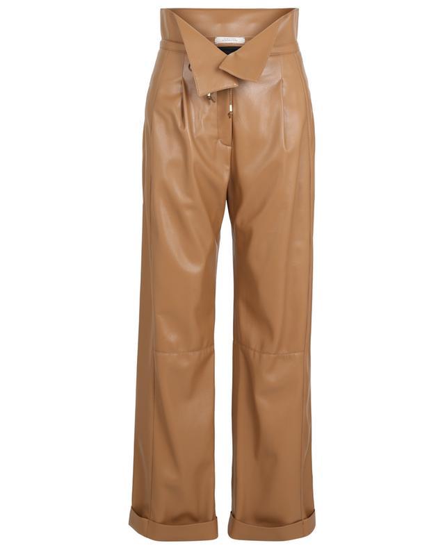 Pantalon paperbag en cuir synthétique Sleek Performance DOROTHEE SCHUMACHER
