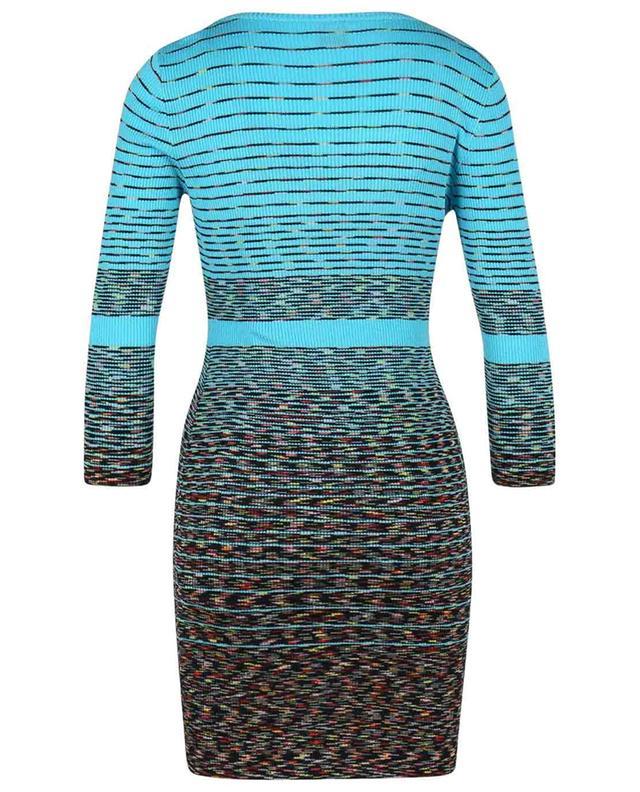 Mini robe rayée en maille côtelée multicolore M MISSONI