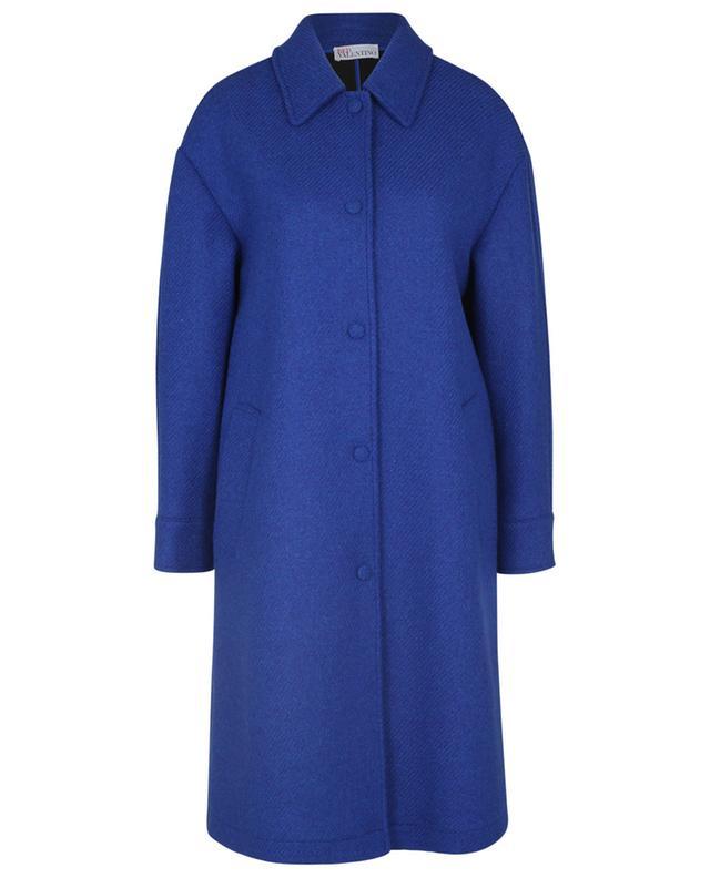 Manteau à boutonnage simple en sergé de laine vierge RED VALENTINO