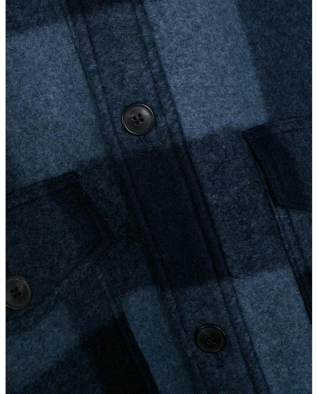Veste chemise à carreaux en laine mélangée Kervon ISABEL MARANT