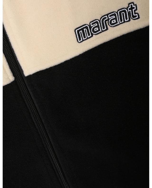 Veste en polaire à col en maille Malith ISABEL MARANT