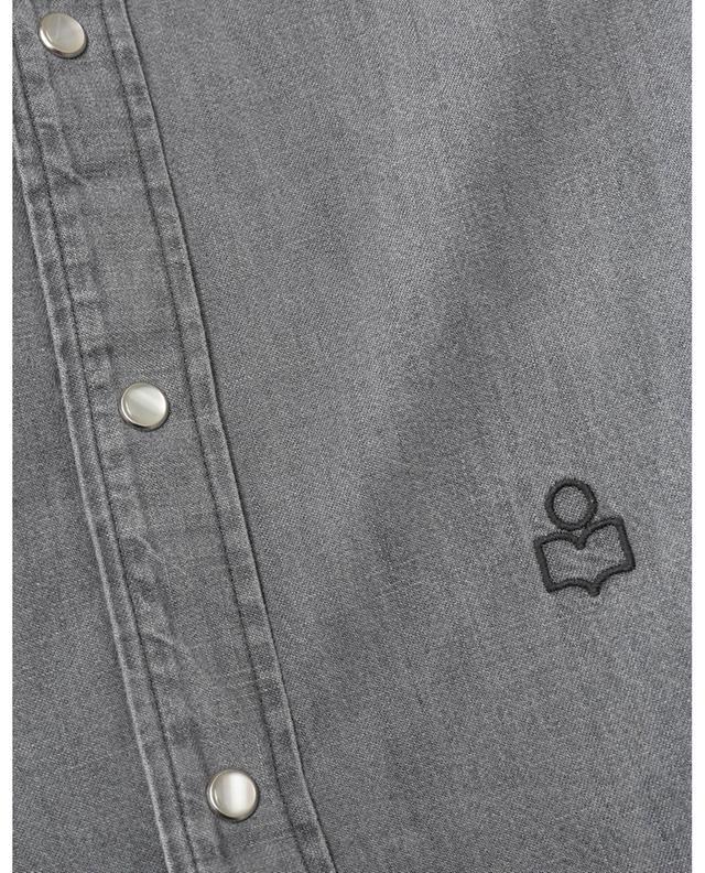 Chemise en denim brodée logo Lako P ISABEL MARANT