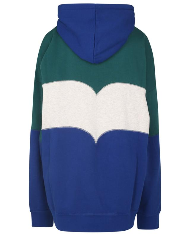 Sweat-shirt à capuche oversize colour block Olan ISABEL MARANT
