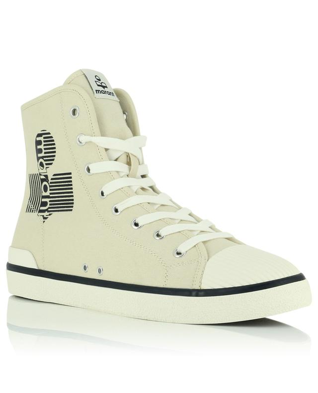 Benkeenh high-top lace-up sneakers in logo printed canvas ISABEL MARANT