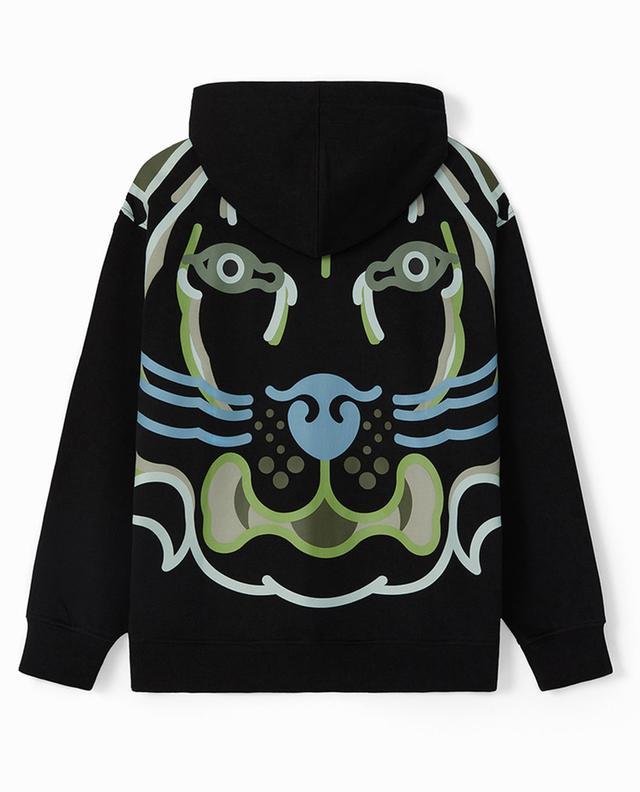 Sweat-shirt zippé à capuche imprimé dans le dos K-Tiger WWF Capsule KENZO
