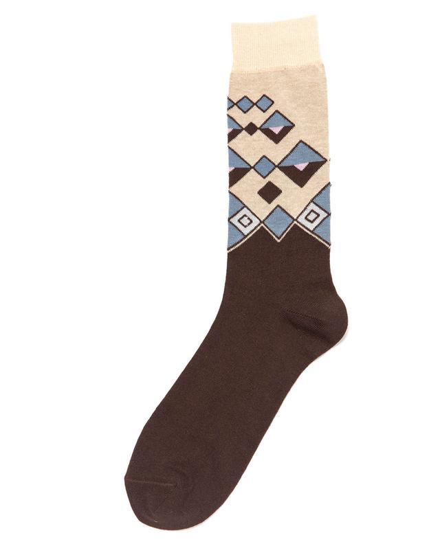 Chaussettes courtes à motifs géométriques Mucho ALTO