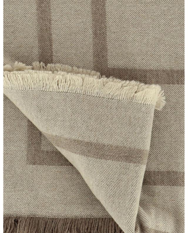 Foulard carré en laine Monogram Jacquard TOTÊME