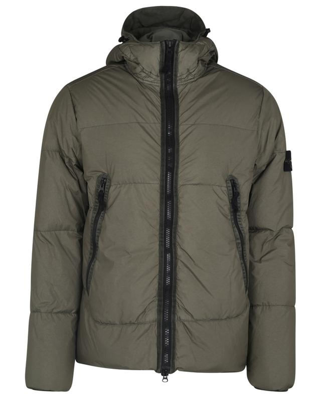 Doudoune à capuche Garment Dyed Crinkle Reps NY Down STONE ISLAND