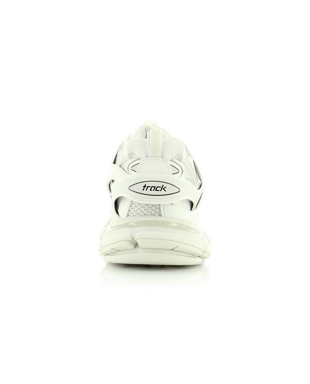 Baskets basses multi-matière à lacets et détails argentés Track BALENCIAGA