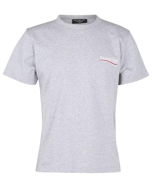 T-shirt brodé logo Political Campaign Large Fit BALENCIAGA