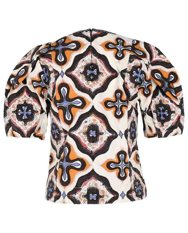 Top à motifs patchwork Gaia Prism ULLA JOHNSON