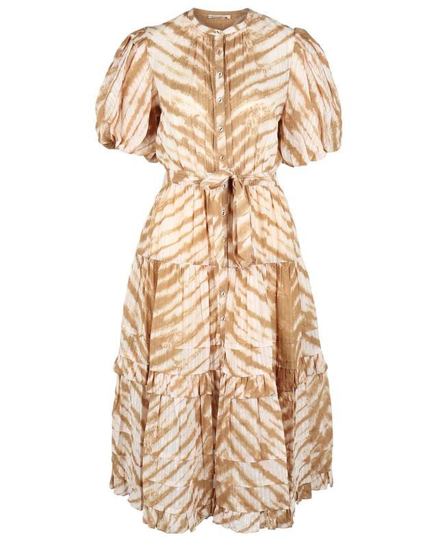 Robe chemise en voile imprimée tigre tie-dye Magdalena ULLA JOHNSON