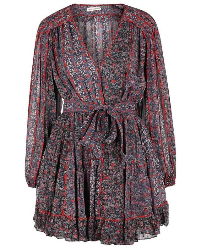 Mini robe en soie fleurie Eleni Twighlight ULLA JOHNSON