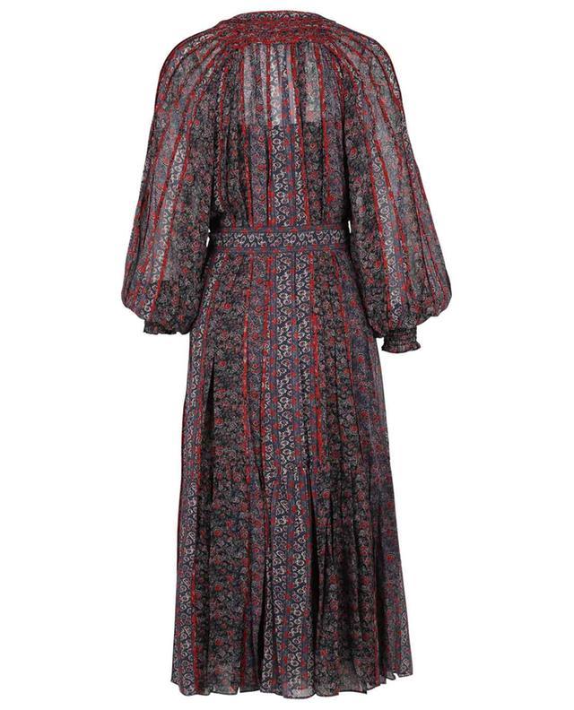 Robe longue en soie fleurie Xenia Twighlight ULLA JOHNSON