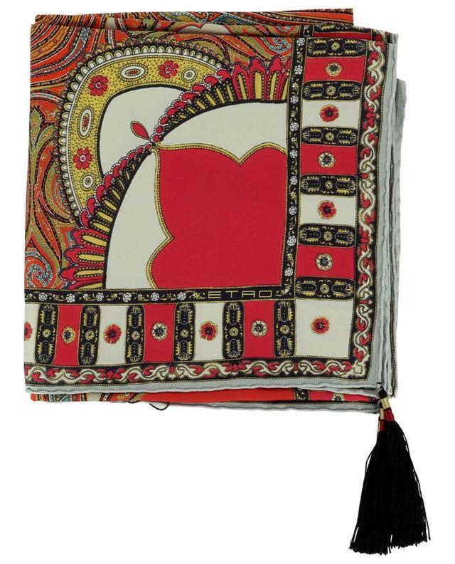 Foulard en soie imprimé tapis à pampilles Jodhpur ETRO