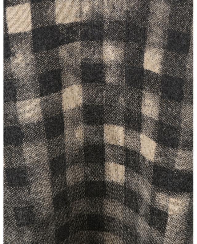 Pull à col rond en laine imprimé Ghost Check KENZO