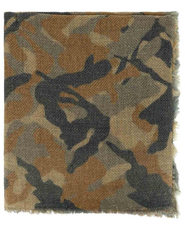 Écharpe en laine et cachemire motif camouflage Navayo MALA ALISHA