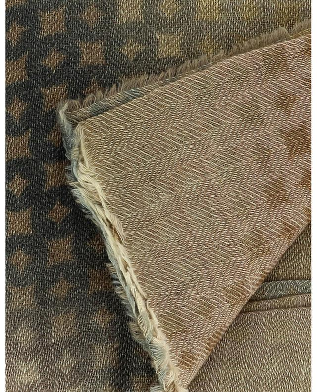 Foulard carré en laine et cachemire Winter Sky MALA ALISHA