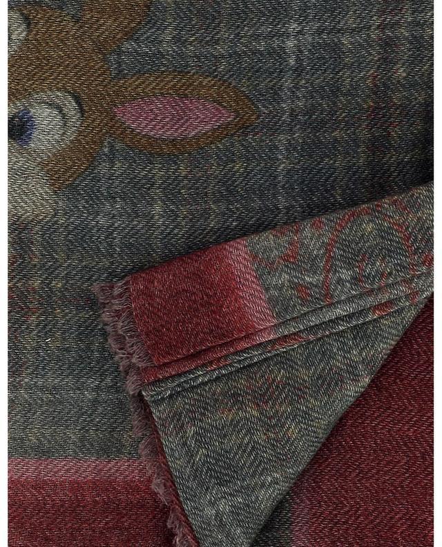 Foulard carré en laine et cachemire Madame Lapin MALA ALISHA