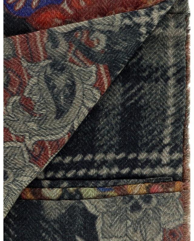 Foulard carré en laine et cachemire Coloured Black MALA ALISHA
