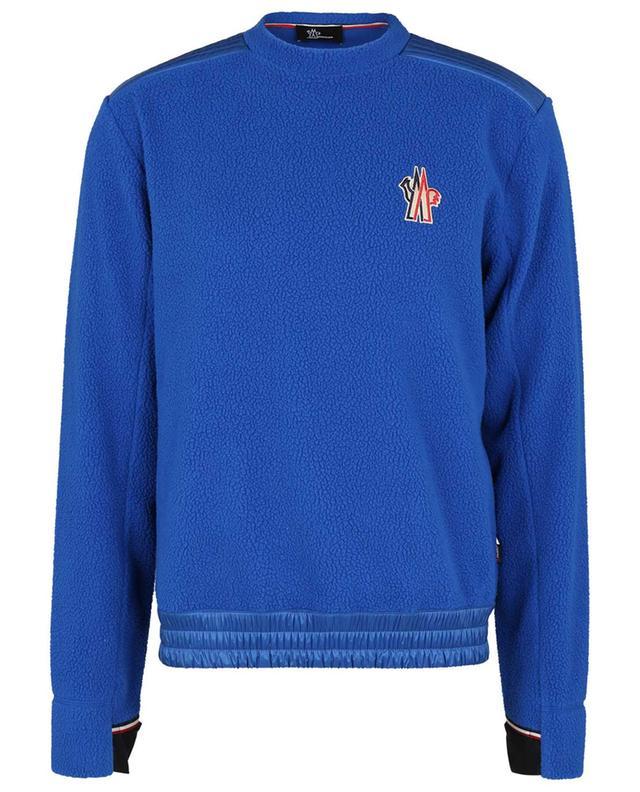 Sweat-shirt à col rond en polaire brodé logo MONCLER GRENOBLE