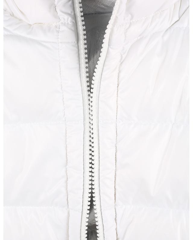 Doudoune réversible à capuche en blanc et argent Freville MONCLER