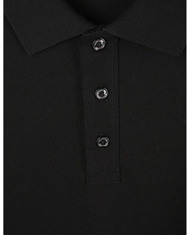 Polo à manches courtes en coton piqué logo coq MONCLER