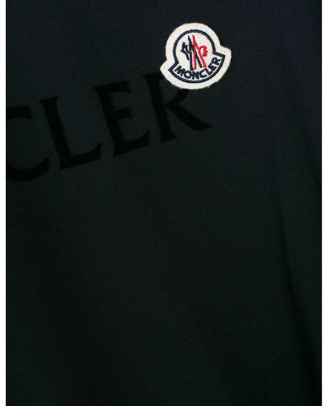 T-shirt slim imprimé logo floqué et patch coq MONCLER