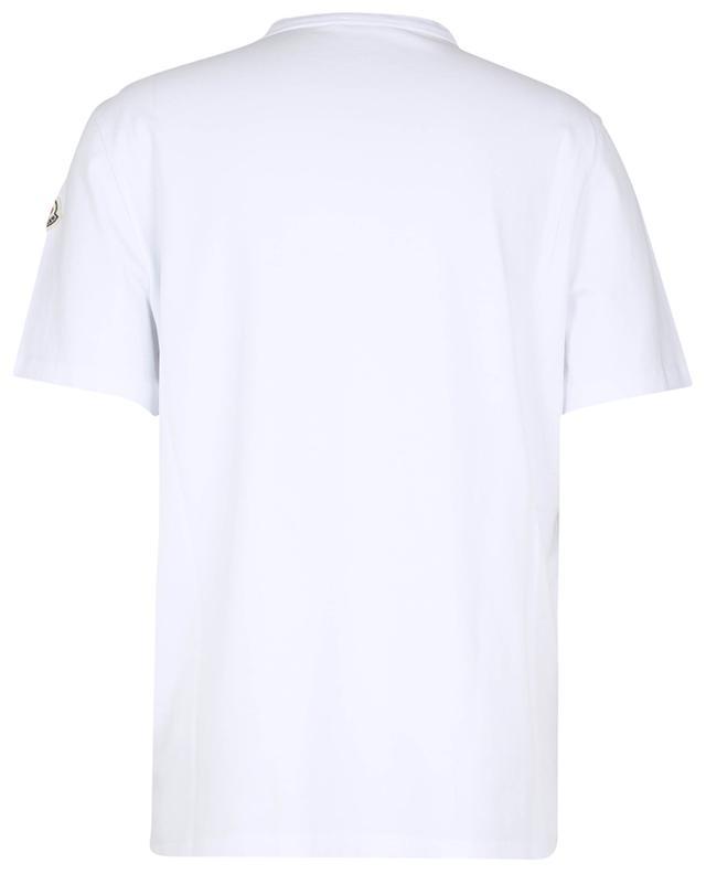T-shirt imprimé logo et slogan Keep Warm... Push for Higher Peaks... MONCLER