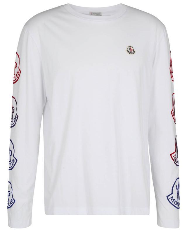 T-shirt à manches longes en jersey imprimé logo floqué MONCLER