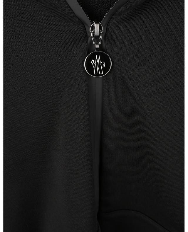 Sweat-shirt à capuche orné de rayures mates détail mesh MONCLER