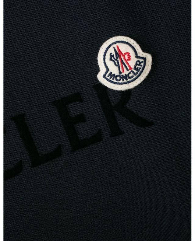 Sweat-shirt à col rond imprimé logo floqué et patch MONCLER
