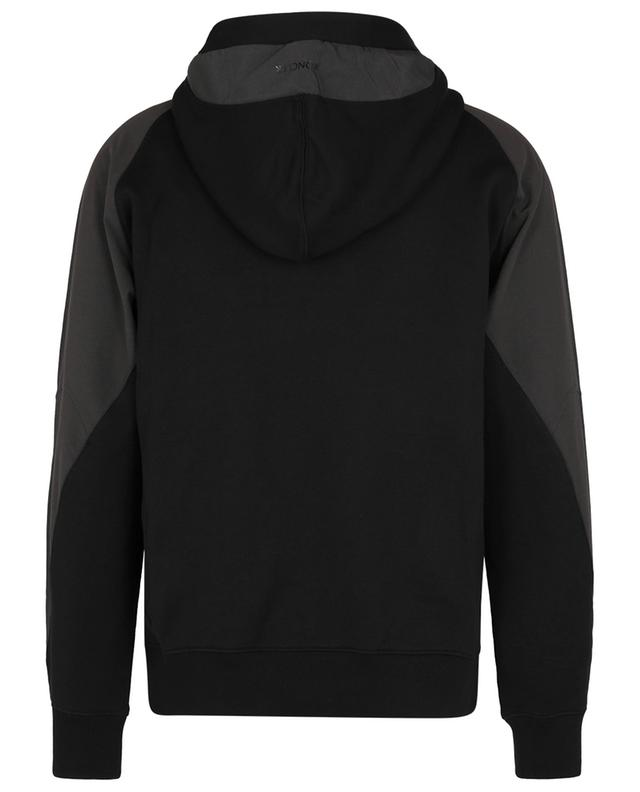 Sweat-shirt à capuche bicolore Matt Black MONCLER