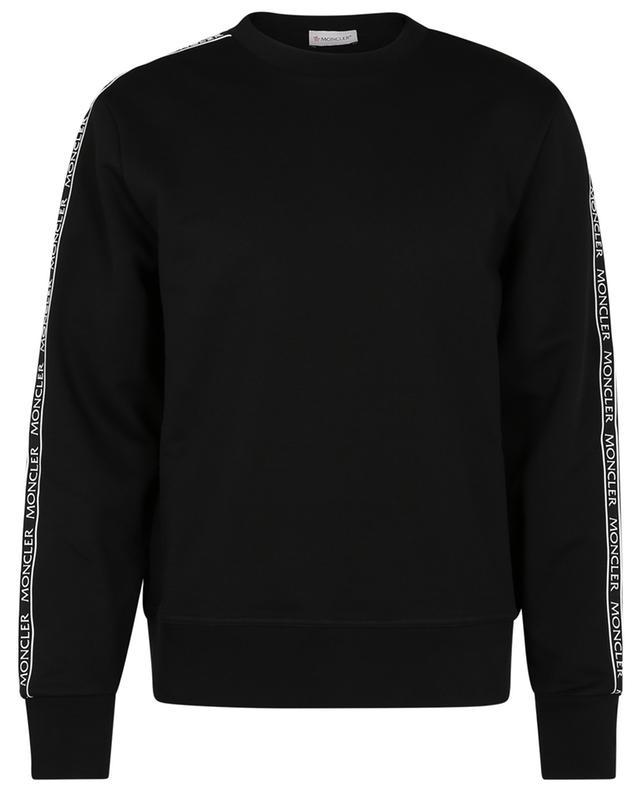 Sweat-shirt à col rond à rayures logo MONCLER
