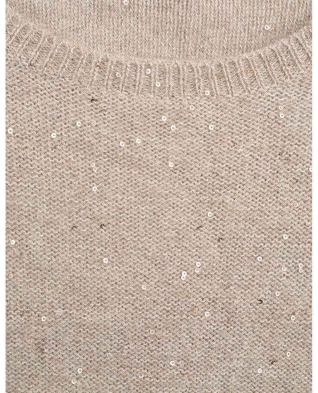 Pull à col rond en laine mélangé brodé de sequins FABIANA FILIPPI