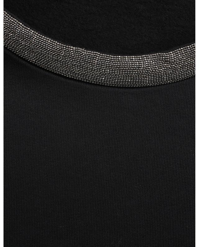 Sweat-shirt à col rond brodé de perles scintillantes FABIANA FILIPPI