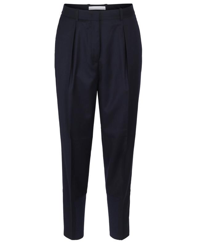 Pantalon fuselé en laine à détails en maille côtelée FABIANA FILIPPI