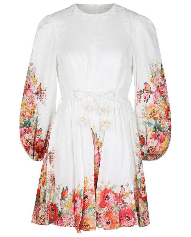 Mini robe en lin imprimé fleurs Mae ZIMMERMANN