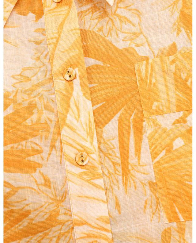 Chemise en coton imprimé Mae Cuffed Amber Palm ZIMMERMANN