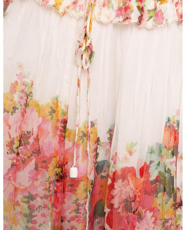 Robe fleurie en georgette de soie Mae Tiered Frill ZIMMERMANN