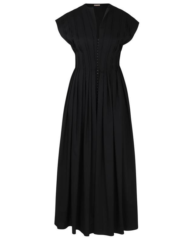 Robe longue en popeline de laine Corset Dress ALAIA
