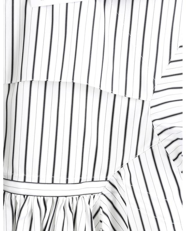 Chemise à basque en popeline rayée ALAIA