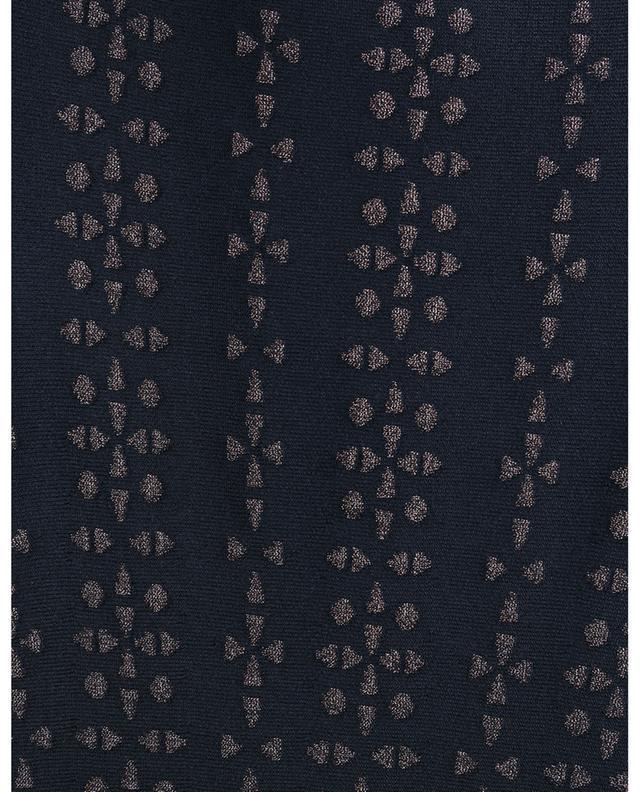 Robe courte évasée en maille jacquard Bijoux ALAIA